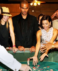 Eva Longoria Parker and Tony Parker in Casino