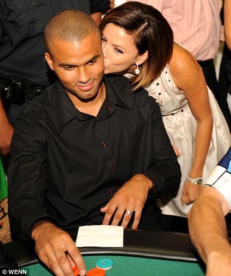 Tony Parker Playing Poker