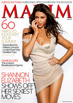 Shannon Elizabeth Maxim Cover Girl