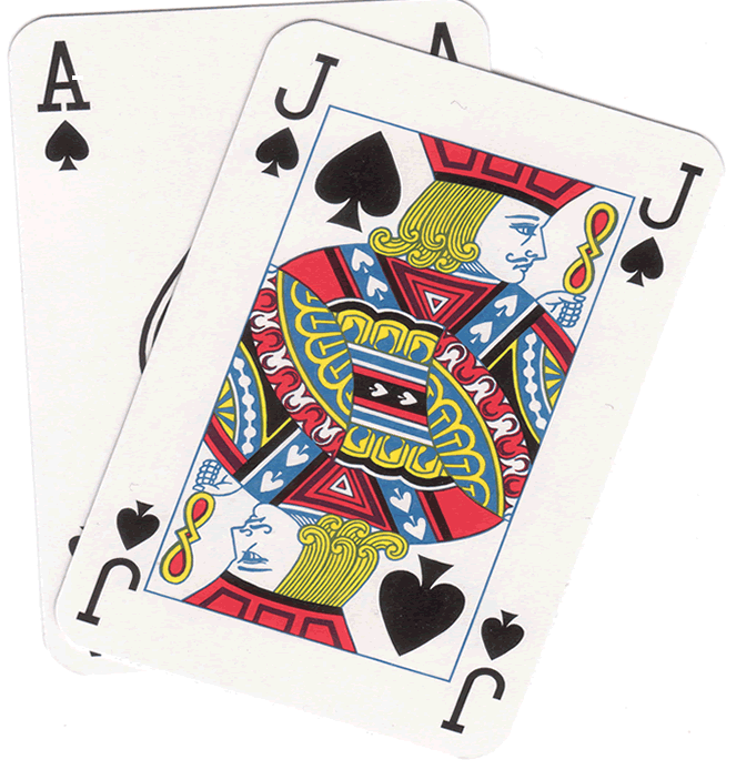 Black Jack Playing Card